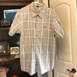 Oakley Large Blue Gray button up